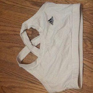 White adidas sports bra